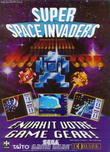 Publicité pour Space Invaders sur Game Gear