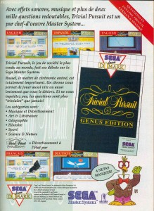Trivial Pursuit on Master System Ad