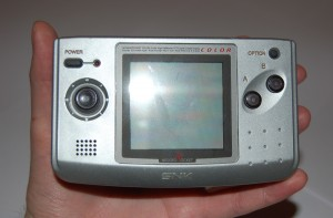Close-up on a Neo Geo Pocket Color